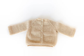 pull gilet blanc laine bébé cadeau naissance